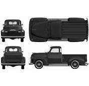 CAR Blueprints  1951 Chevrolet Pick Up Blueprint