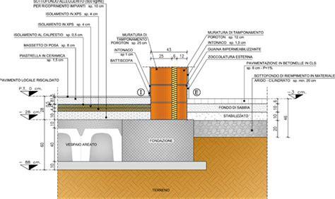 isolamento umidità pavimento piano terra isolamento delle fondazioni dettaglio di connessione con