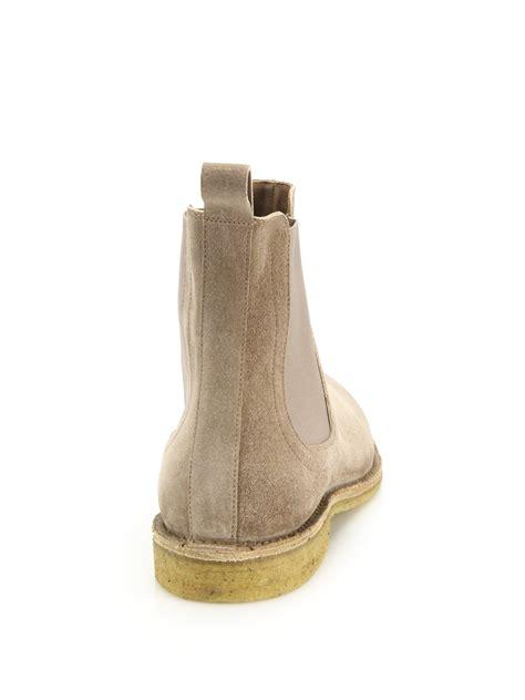 bottega veneta mens boots bottega veneta suede chelsea boots in khaki for