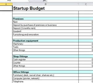 budget template for startup business startup budget template excel