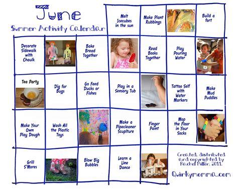Calendar Activities Activity Calendars