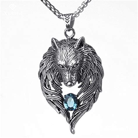 oatchoco necklace wolf pendant cool necklace newest