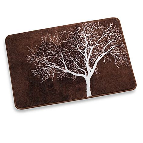Brown Bathroom Rugs Tree Brown Bath Rug Bed Bath Beyond