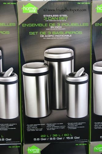home zone trash can costco sale home zone stainless steel trash can 3