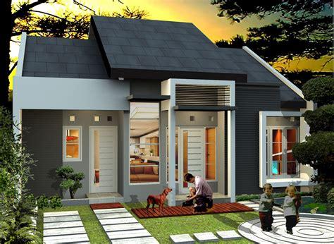 gambar desain rumah minimalis  model teras unik dipinggir jalan desain rumah perumahan