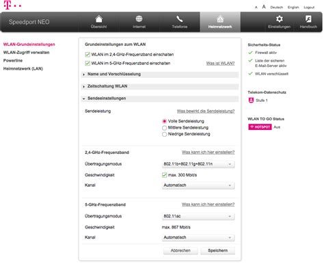 test telekom speedport neo router maxwirelessde