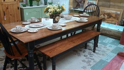 farm table with bench and chairs beautiful farm table with matching bench and chairs