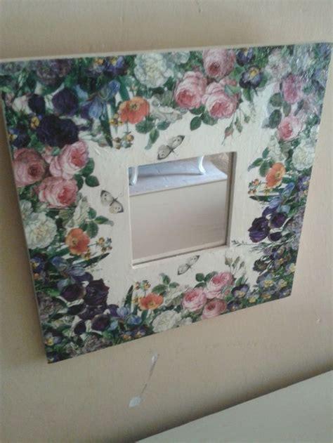 Decoupage Mirror Ideas - malma ikea con decoupage do it yourself