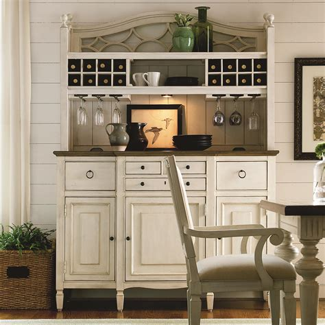 Hutch And Bar Summer Hill 2 Pc Serving Buffet And Bar Hutch With Wine