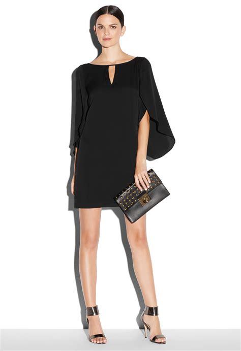 Dress Stretch Wedges Dress lyst milly keyhole stretch crepe mini dress in black