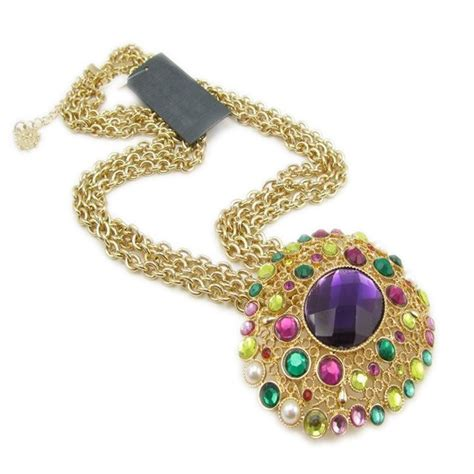 Rhinestone Multi Chain Necklace fashion multicolor rhinestone chain necklace chain