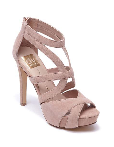 beige high heel sandals dolce vita balla suede high heel sandals in pink beige