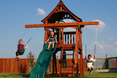 swing sets for small spaces swing sets backyard adventures redwood wooden swing