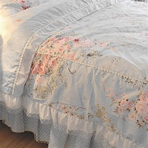 victorian bedding blue rose bedding set