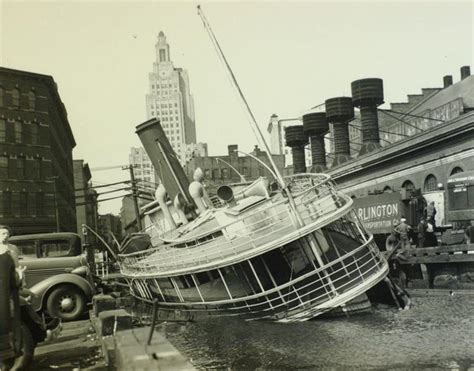 ferry boat wakefield hurricane hits long island and new england in 1938 ny