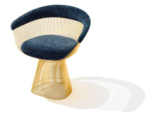 Platner Gold Plated Arm Chair   hivemodern.com