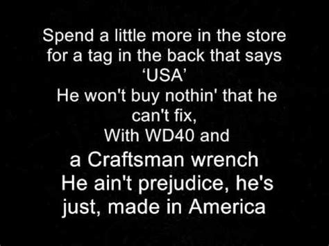 country music toby keith lyrics made in america toby keith lyrics youtube