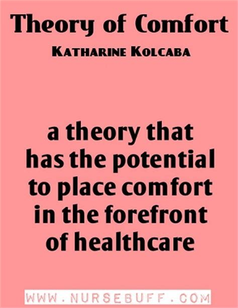 comfort theory of nursing quotes by katharine kolcaba like success