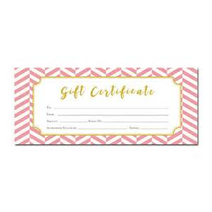 Pink Gift Certificate Template by Chevron Pink Chevron Gift Certificate Customer
