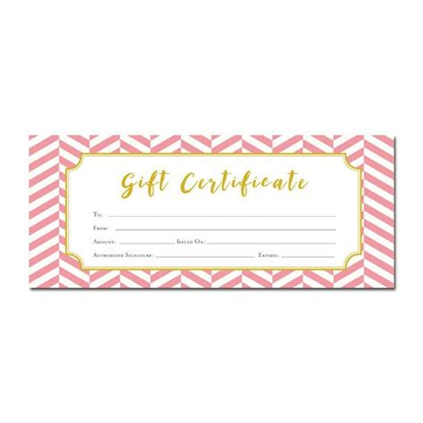 Pink Gift Certificate Template 25 unique blank gift certificate ideas on