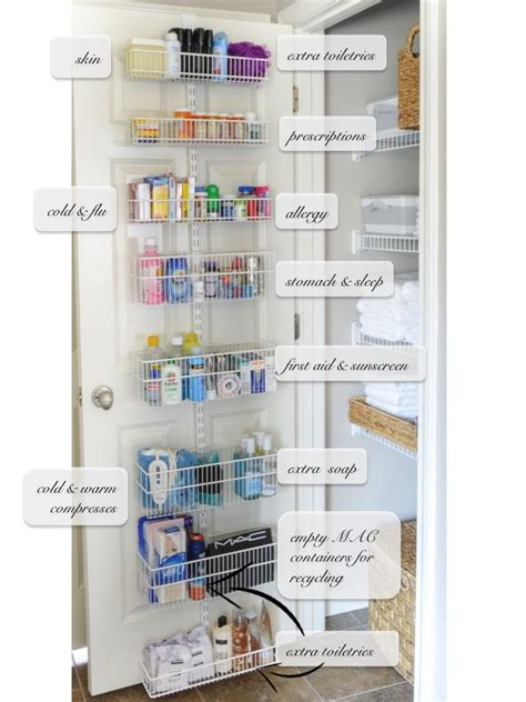 bathroom closet organizer 25 best ideas about medicine storage on pinterest