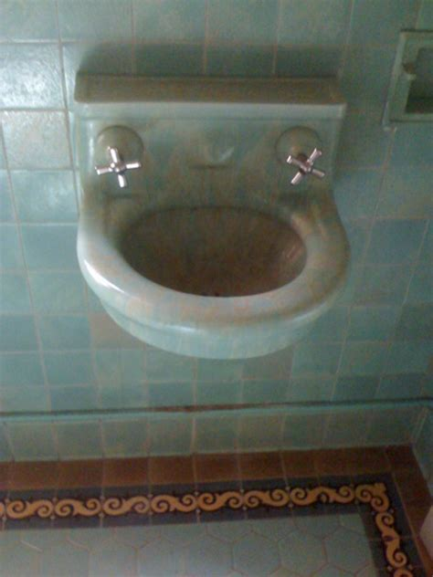 Portland Vintage Plumbing by Wall Hung Sink Another Vintage Plumbing Restoration Project