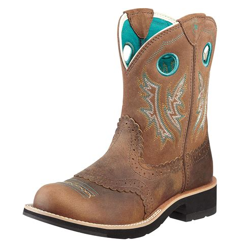 cow boots ariat fatbaby boot powder brown in