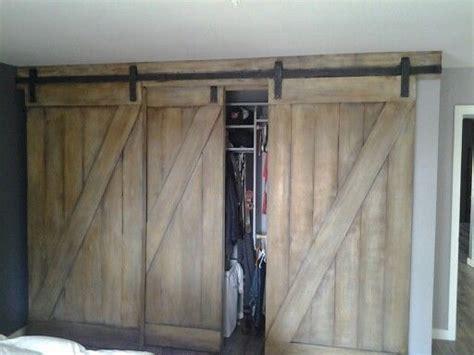 custom  barn style bypass closest doors