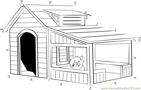 savannah dog house savannah dog house dot to dot printable worksheet connect the dots