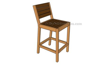 How To Build A Wooden Bar Stool by How To Build A Bar Stool Myoutdoorplans Free