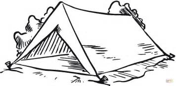tent coloring page tent in the forest coloring page free printable coloring