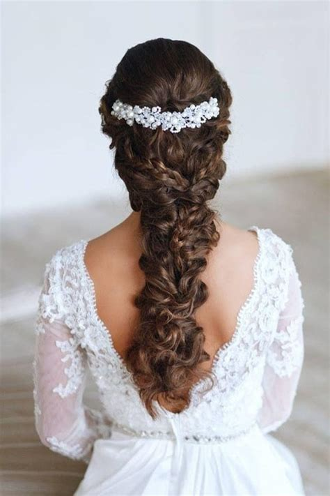 Wedding Hairstyles With Braids And Curls by Wedding Curly Hairstyles 20 Best Ideas For Stylish Brides