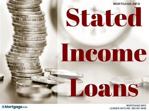 stated income loans mortgage info