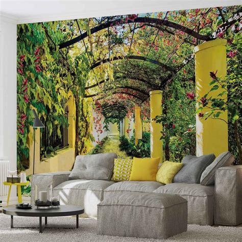 Flowers Floral Garden Wall Paper Mural Buy At Europosters Garden Wall Murals