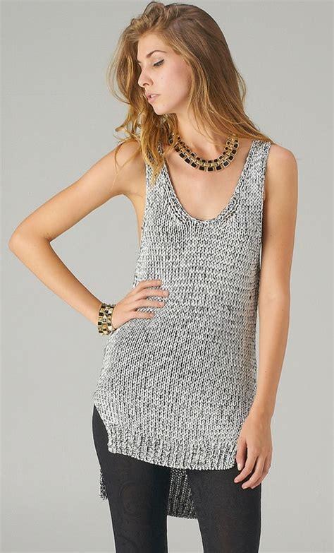 top knitting patterns glittery knit tank top my style