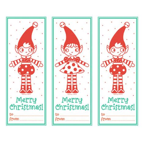 printable elf gift tags 10 sets of printable retro vintage christmas and holiday