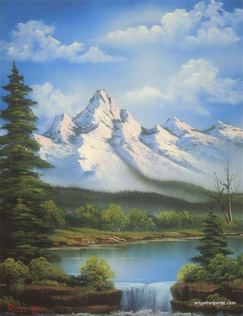 bob ross painting mountain ridge bob ross paintings bob ross gallery bob ross artwork