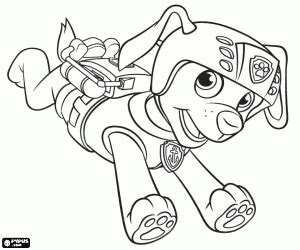 zuma coloring page the labrador dog zuma of paw patrol coloring page