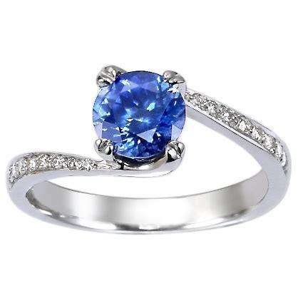 eco friendly ring 18k white gold seacrest sapphire ring