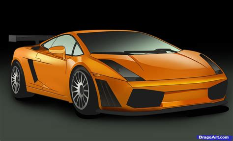 How to Draw a Lamborghini, Step by Step, Cars, Draw Cars