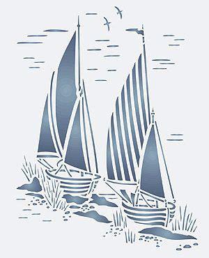 boat stencil toile sail boats stencil coastal toile de jouy stencils