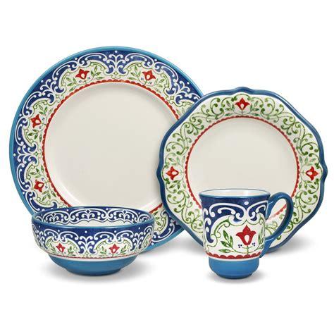 pfaltzgraff pattern blue green stripe pfaltzgraff patterns blue 16 piece dinnerware set