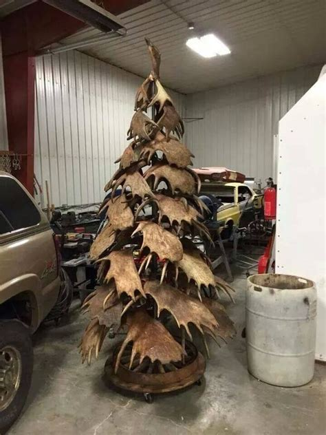 shed antler christmas trees      festive spirit