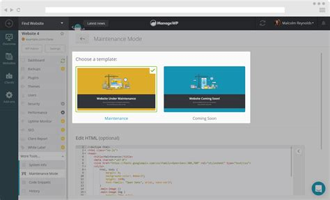 maintenance mode html template how to use maintenance mode for your websites managewp