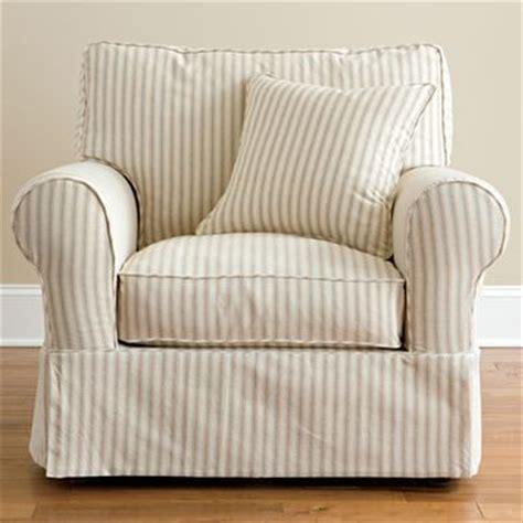 linden slipcover sofa linden friday stripe slipcovered chair jcpenney