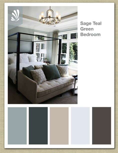 blue color palette for bedroom sage cream oil gray and teal green color palette