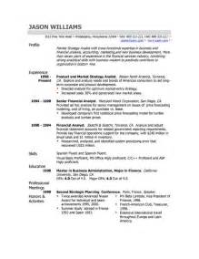 the resume professional profile exles recentresumes