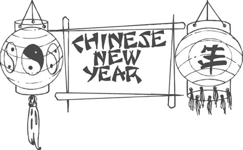 new year lantern colouring new year animals coloring pages coloring home