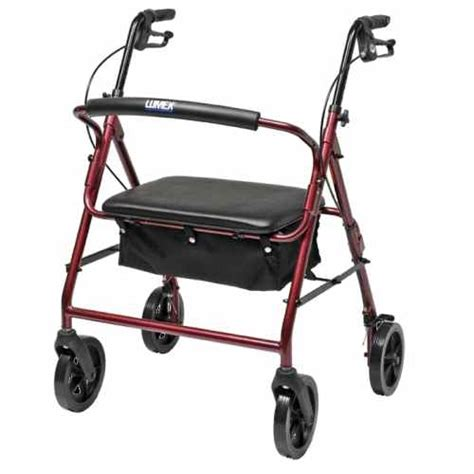 bariatric 2 wheeled walker with seat lumex walkabout contour imperial rj4400 4 wheel