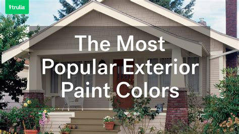 Most Popular Exterior Paint Colors | the most popular exterior paint colors huffpost